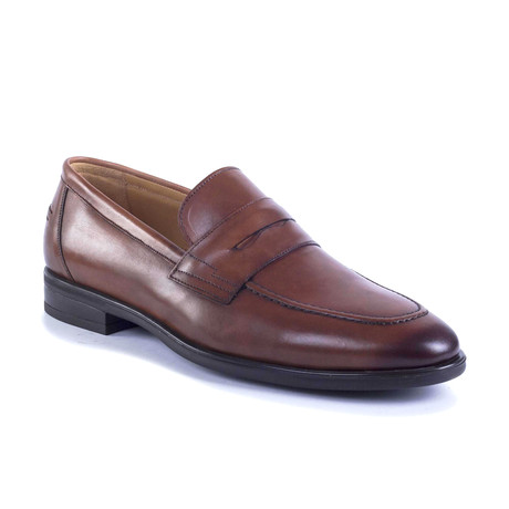 Gruber Leather Moccasin // Cognac (Euro: 39)