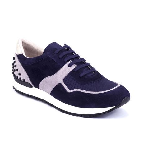 Sputnik Suede Sneakers // Blue + Gray (Euro: 39)