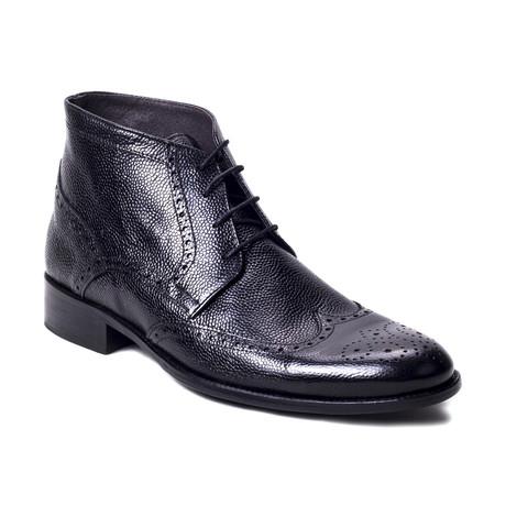 Alipbon Leather Boot // Black (Euro: 39)