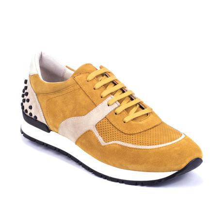 Sputnik Suede Sneakers // Yellow + Beige (Euro: 39)