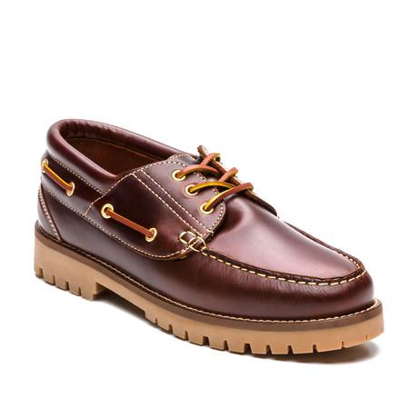 Celeron Leather Boat Shoe // Cognac (Euro: 39)