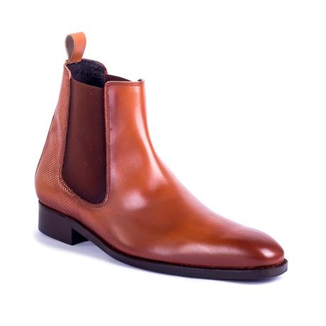 Capote Leather Chelsea Boots // Cognac (Euro: 39)