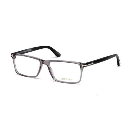 Unisex Rectangular Eyeglasses // Transparent Gray