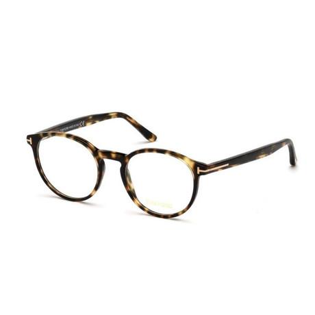 Unisex Round Eyeglasses // Light Havana + Lilac