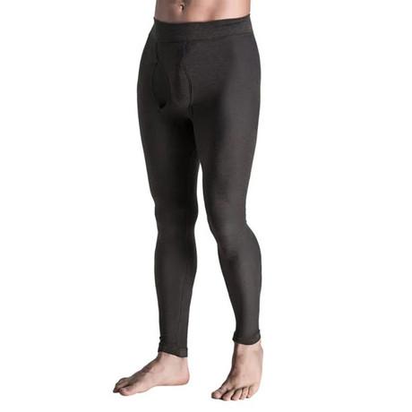 Men's Compression Long Pants // Gray (Small)