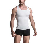 2-in-1 Compression and Posture Support Shirt // White (X-Large)
