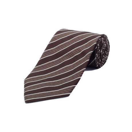 Ermenegildo Zegna // Silk Striped Tie // Brown