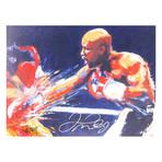 Floyd Mayweather Working Overtime // Autographed Display
