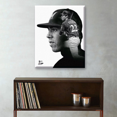 "Christian Yelich PROfile // Milwaukee Brewers (11""W x 14""H x 2""D)"