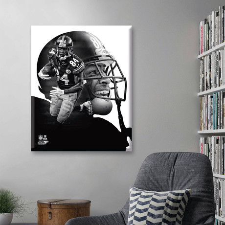 "Antonio Brown PROfile // Pittsburgh Steelers (11""W x 14""H x 2""D)"
