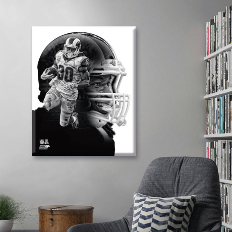 "Todd Gurley PROfile // Los Angeles Rams (11""W x 14""H x 2""D)"