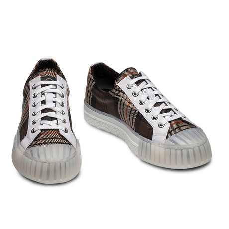 Hugo Sneakers // Tartan Brown (Euro: 39)