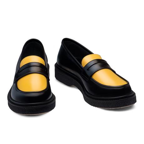 Jonas Leather Loafer // Black + Yellow (Euro: 39)