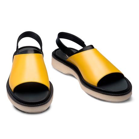 Reilly Leather Sandal // Yellow + Black (Euro: 39)