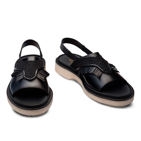 Sage Leather Sandal // Black (Euro: 39)
