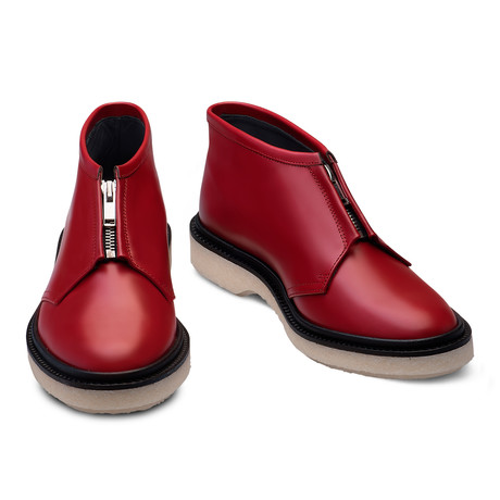 Kenneth Leather Boot // Red (Euro: 39)