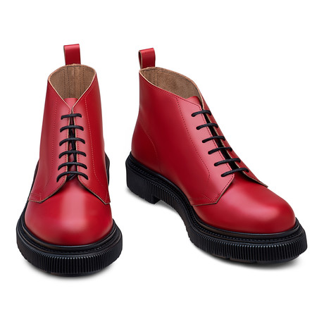 Colton Leather Boot // Red (Euro: 39)