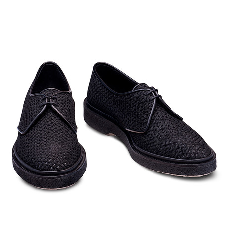 Chance Fishnet And Leather Derby // Black (Euro: 39)