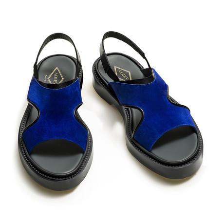 Maximillian Sandal // Bright Blue + Black (Euro: 39)