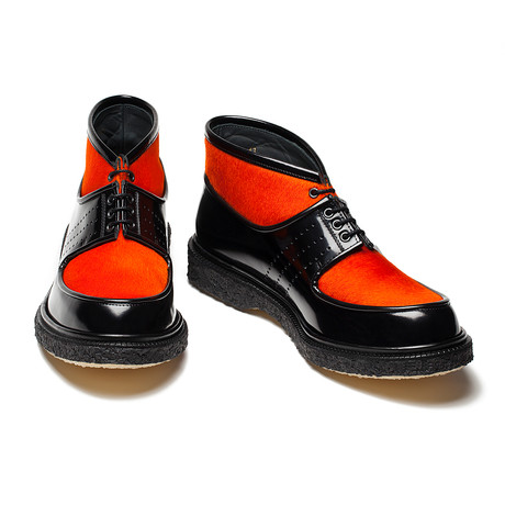 Emilio Boots // Pony Orange + Black (Euro: 39)