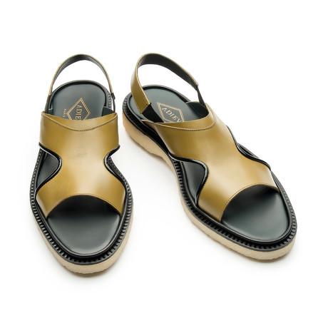 Maximillian Sandal // Mustard + Black (Euro: 39)