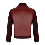 Side-Zip Leather Jacket // Bordeaux (M)