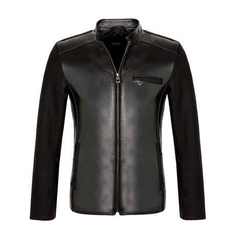 Fitted Leather Jacket // Black (S)