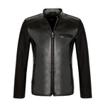 Fitted Leather Jacket // Black (3XL)