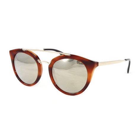 Prada // Women's PR23SS Sunglasses // Light Brown + Gold