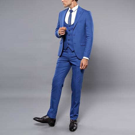 Kylian 3-Piece Slim Fit Suit // Blue (Euro: 44)
