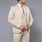 Francesco 3-Piece Slim Fit Suit // Beige (Euro: 50)
