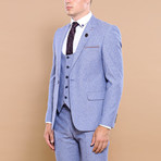 Stefano 3-Piece Slim Fit Suit // Light Blue (Euro: 56)