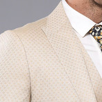 Francesco 3-Piece Slim Fit Suit // Beige (Euro: 48)