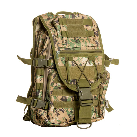 Something Tough Backpack // Dark Green Camo