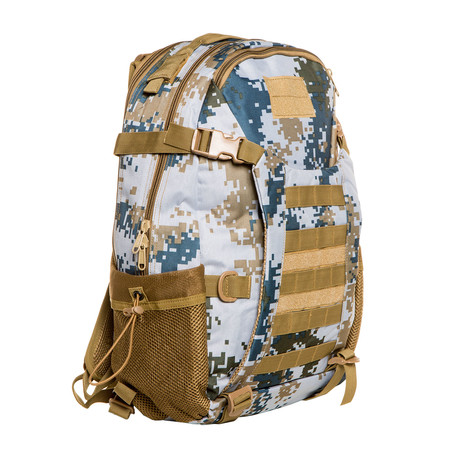 Something Helpful Backpack // Blue Camo + Khaki