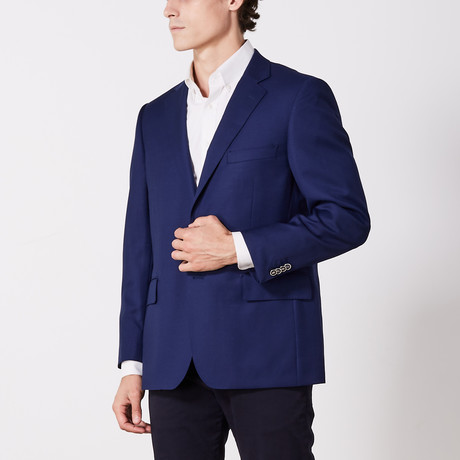 Via Roma // Classic Fit Sport Jacket // Navy Elegance (US: 36S)
