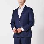 Via Roma // Classic Fit Suit // Blue Nailhead Shadow (US: 40S)