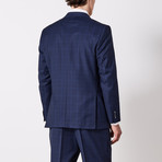 Via Roma // Classic Fit Suit // Blue Nailhead Shadow (US: 40R)