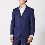 Via Roma // Classic Fit 3 Piece Suit // Navy Nailhead (US: 36S)
