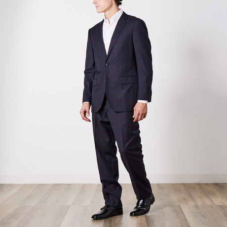 Paolo Lercara // Suit // Black + Navy Shadow (US: 36S)