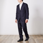 Paolo Lercara // Suit // Black + Navy Shadow (US: 40R)