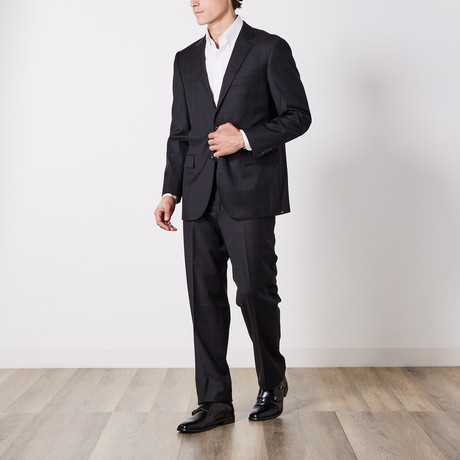 Paolo Lercara // Suit // Black Windowpane (US: 36S)