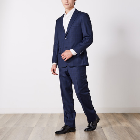 Via Roma // Classic Fit Suit // Blue Nailhead Shadow (US: 36S)
