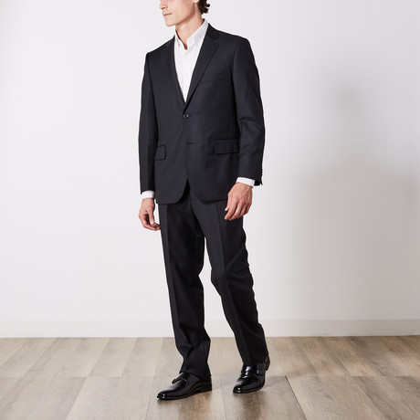 Via Roma // Classic Fit Suit // Black Tone on Tone (US: 36S)