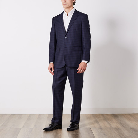 Paolo Lercara // Suit // Navy Trail Check (US: 36S)