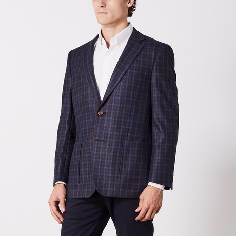 Via Roma // Classic Fit Sport Jacket // Blue Check (US: 36S)