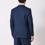 Via Roma // Classic Fit 3 Piece Suit // Blue Check (US: 40S)