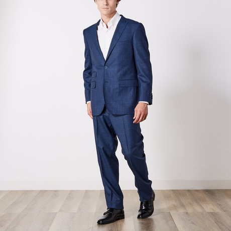 Paolo Lercara // Suit // Blue Fade Check (US: 36S)