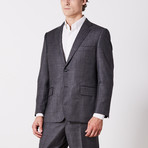 Via Roma // Classic Fit Suit // Gray Microbox (US: 42R)