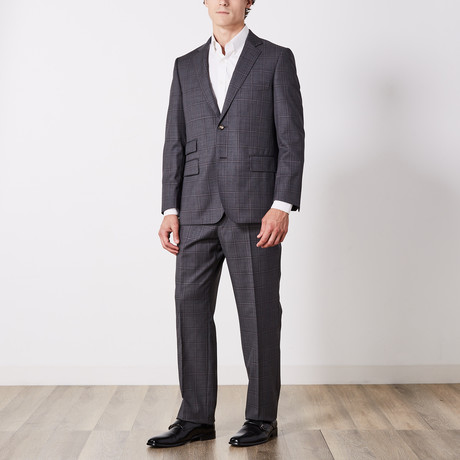 Via Roma // Classic Fit Suit // Gray Double Windowpane (US: 36S)